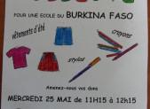 Collecte pour le Burkina à Niaux