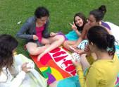 Les Juniors à la piscine à Foix