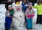 La neige … A Saurat … Quel bonheur !