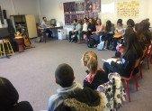 Les CM2 du Pradelet chantent au Collège … et Saurat célèbre les premiers flocons !