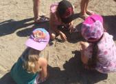 Sur la plage … à Mercus, avec les Petits !