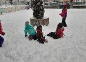 A Saurat sous et dans la neige !