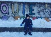 Créations artistiques et neige à Quié