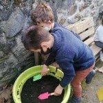 Jardinage à Arnave